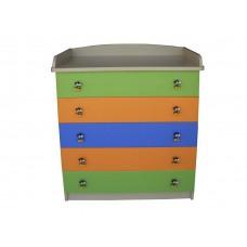 Παιδική συρταριέρα μελαμίνης με 5 συρτάρια
