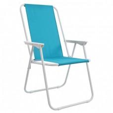 Καρέκλα Παραλίας Πτυσσόμενη Μεταλλική Με Ψηλή Πλάτη