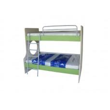 Κουκέτα μελαμίνης με ημίδιπλο κρεβάτι κάτω και μονό κρεβάτι επάνω